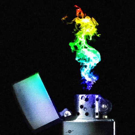 spray paint zippo lighter zippo lighter rainbow square painting by tony rubino