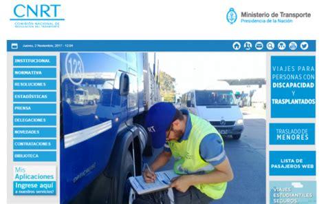 licencia nacional habilitante cnrt rural al d 237 a transportistas nuevo sistema para la