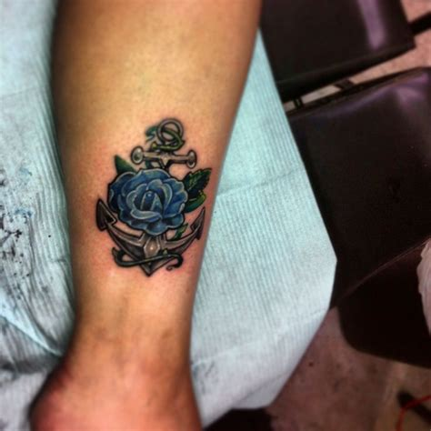anchor tattoo with roses discover and save creative ideas