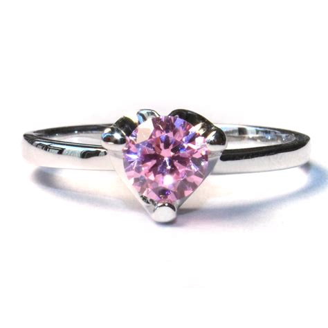 pink solitaire promise ring beautiful promise rings