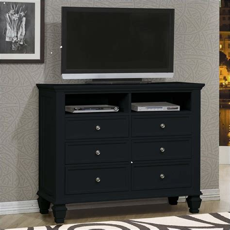 black media chest with drawers your furniture top rated coaster sandy beach six