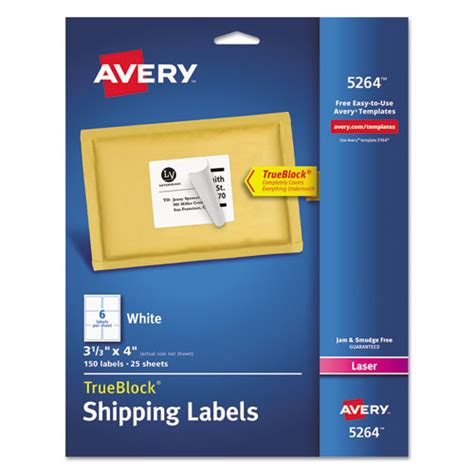avery template 5264 superwarehouse avery 5264 easy peel mailing labels