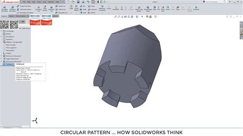 circular pattern solidworks youtube how solidworks thinks circular pattern youtube
