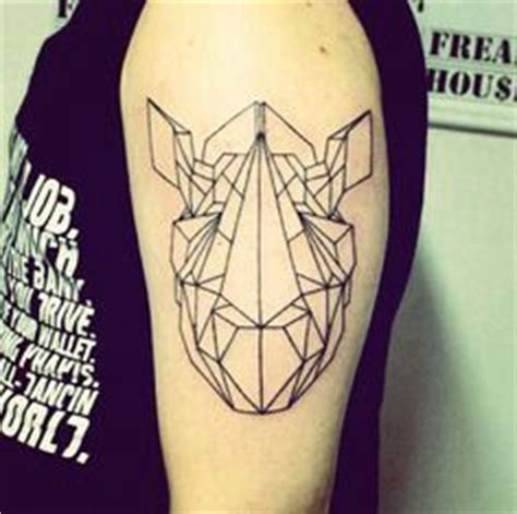 geometric tattoo rhino geometric rhino tattoo tattoos pinterest tatouage de