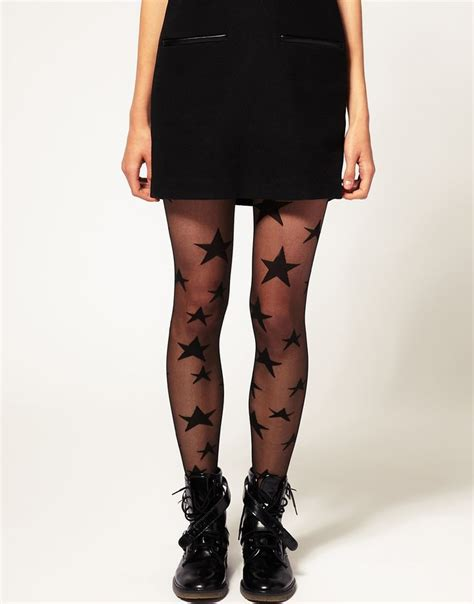 asos patterned leggings asos sheer star tights