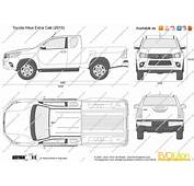 The Blueprintscom  Vector Drawing Toyota Hilux Extra Cab