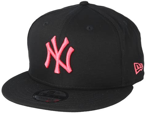 new era yankees new york yankees league essential 9fifty black pink