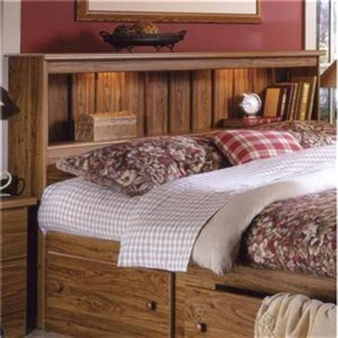 King Size Headboard With Lights by Lang Shaker Bookcase Bed With Bed Drawer