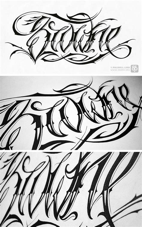 script tattoo font hand drawn tatted up pinterest