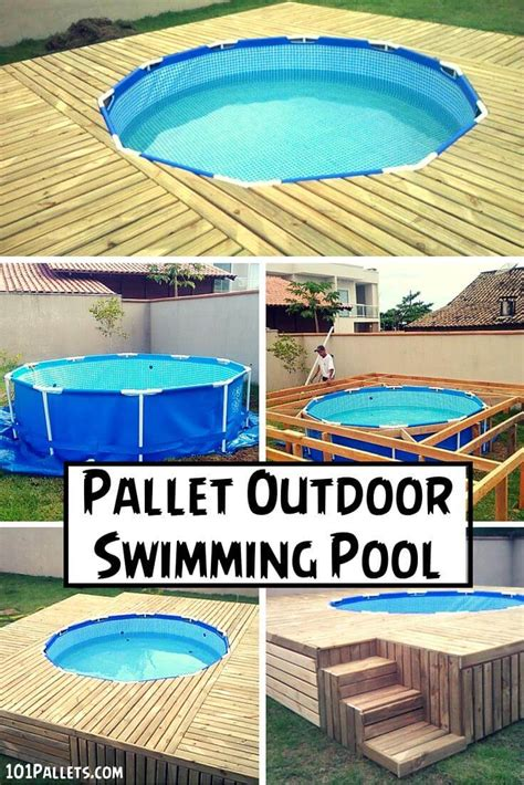 Home Made Baby Shower Decorations by Pallet Outdoor Swimming Pool 101 Pallets