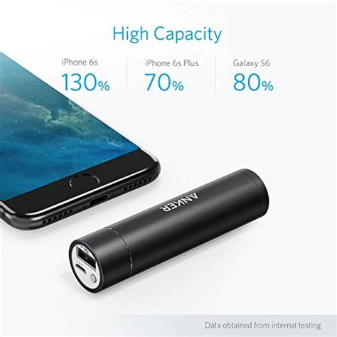 Original Anker A1104651 Lipstick Mini Powerbank Powercore 3350mah anker powercore mini 3350mah lipstick sized portable charger 3rd generation premium aluminum