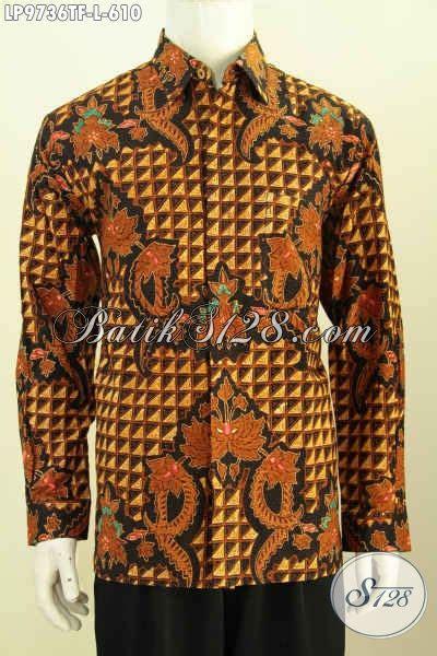 Kemeja Batik Pria Lengan Panjang Hem Batik 209 produk baju batik klasik mewah proses tulis hem batik