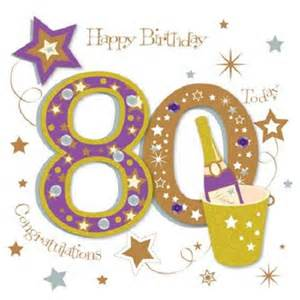 happy 80th birthday greeting card by talking pictures cards kates
