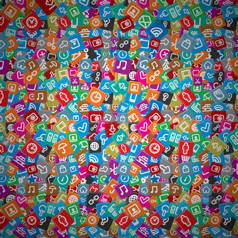 pattern background app messy apps background random multicolored web icons by