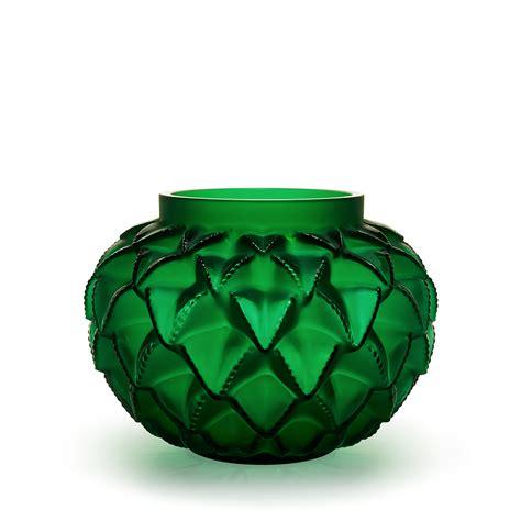 Lalique Green Vase by Languedoc Vase Green Vase Lalique Lalique