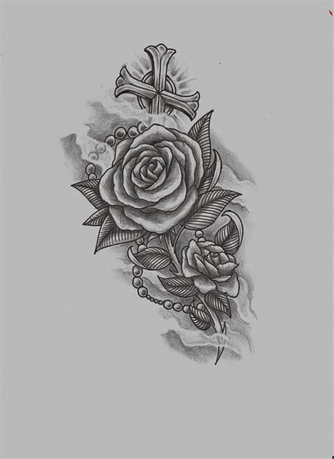 rose with rosary tattoo designs n rosary by konz3pt on deviantart 2