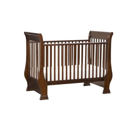 sleigh bed crib sleigh fixed gate crib pottery barn kids