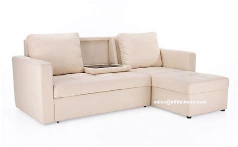 sleeper sofa with storage chaise cream beige off white sectional sofa bed with storage