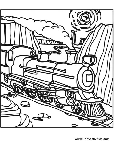 coloring pages of train tracks coloring picture of a train az coloring pages