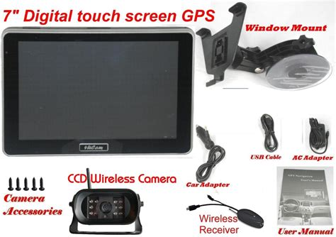 Kamera Sony Touch Screen 4ucam 7 inch hd digital touch screen gps with wireless sony ccd and bluetooth system