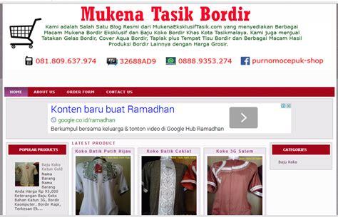 Mukena Bordir free template
