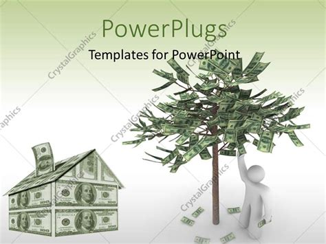 character tree template powerpoint template a 3d character with a house and a