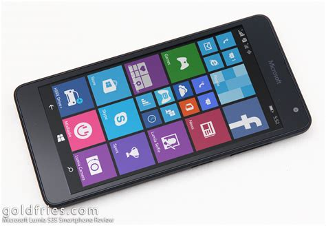 Review Microsoft Lumia 535 microsoft lumia 535 smartphone review goldfries