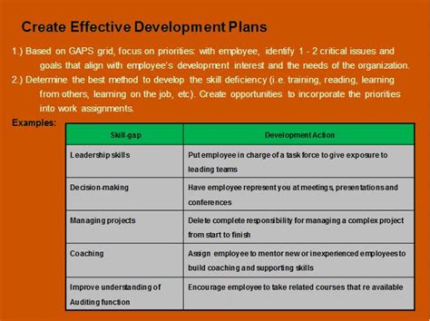 development plans how to develop and implement an