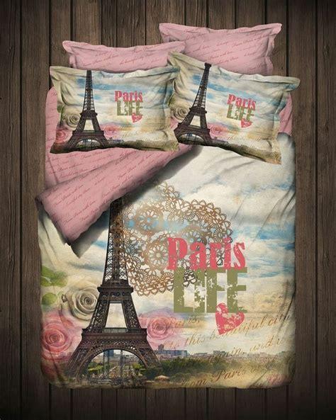 paris design quilt cover set 100 cotton 3pcs paris eiffel tower twin single bedding