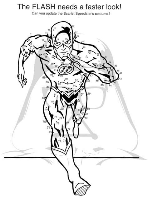 Pdf Flash Coloring Book Dc by Flash Dc Coloring Pages