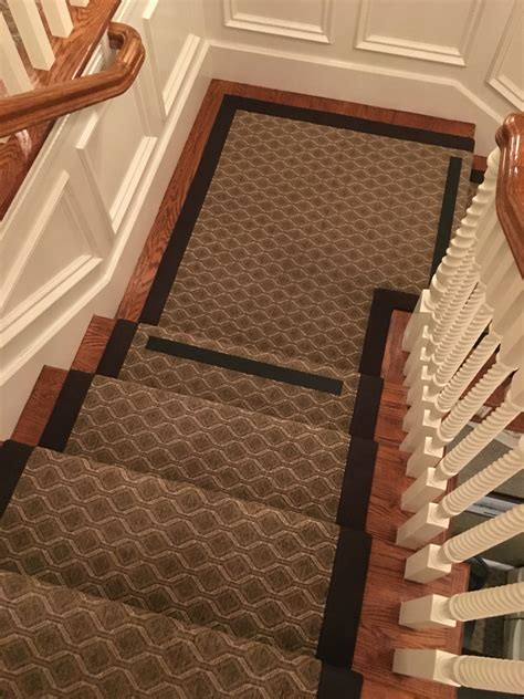 outdoor rugs for steps stanton indoor outdoor carpet fabricated into a stair runner with wide cotton binding at santa
