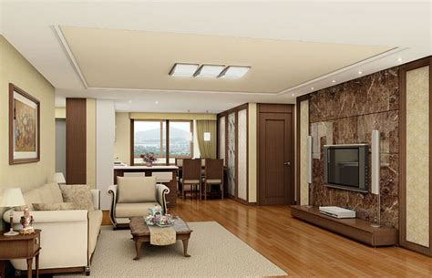 wood floor wall ceiling door interior design 3d 3d house