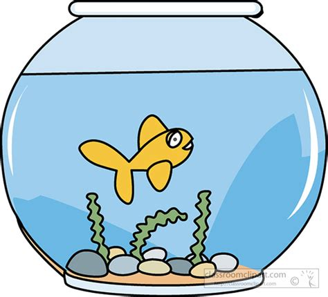 pesci clipart fish clipart fish bowl with swimming goldfish
