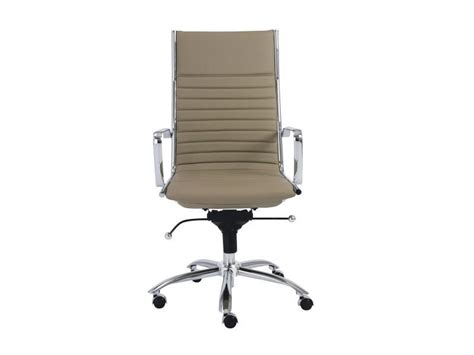south hill design back office dirk high back office chair in taupe design by euro style