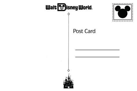 printable postcard invitations free free printable disney world postcard party invitation