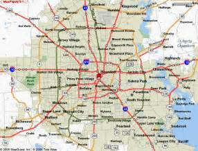 Towns Around Tx Houston Map