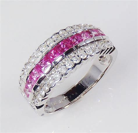 pink rings engagement for a growing trendwedding
