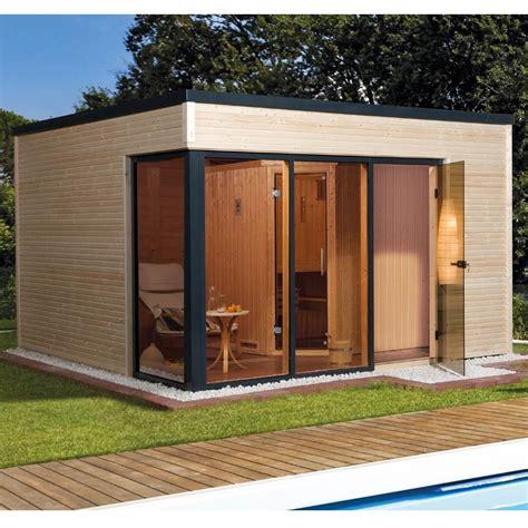 saunahaus modern weka design saunahaus 412 gartensauna 45 68 mm sauna