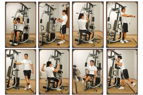 marcy mp multi gym  weight stack shroud fitness