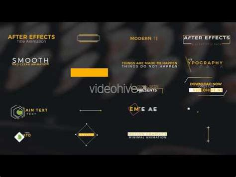 20 Title Animation Free After Effects Template Youtube After Effects Title Animation Templates