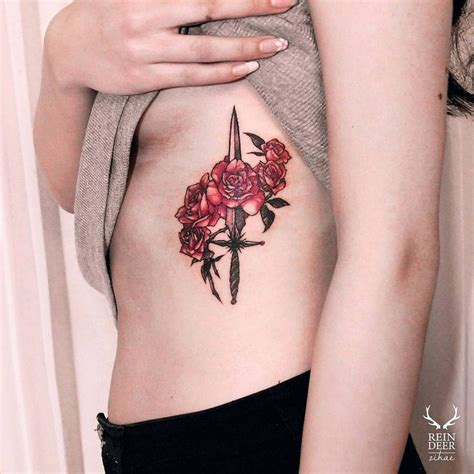 roses and dagger tattoo inspiration pinterest