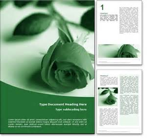 Funeral Powerpoint Templates by Royalty Free Funeral Microsoft Word Template In Green