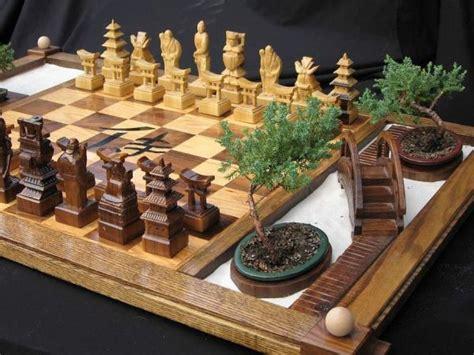 fancy chess set fancy samurai chess set with a built in zen garden