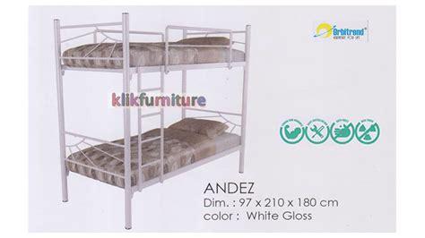 Tempat Tidur Tingkat Besi Murah harga tempat tidur tingkat besi andez orbitrend diskon promo
