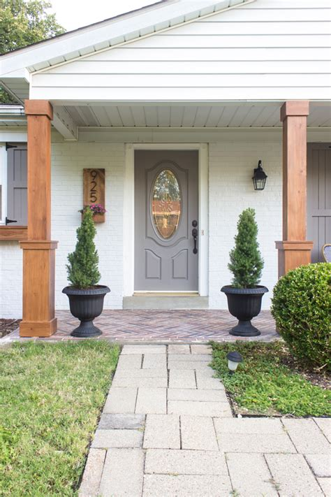 craftsman style front porch posts diy craftsman style porch columns shades of blue interiors