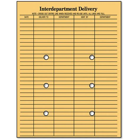 interoffice mail envelope template columbian string button interoffice envelope 10 quot x 13