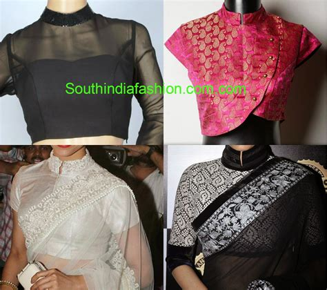 fashion design blouse neck pattern stand collar neck blouse designs south india fashion
