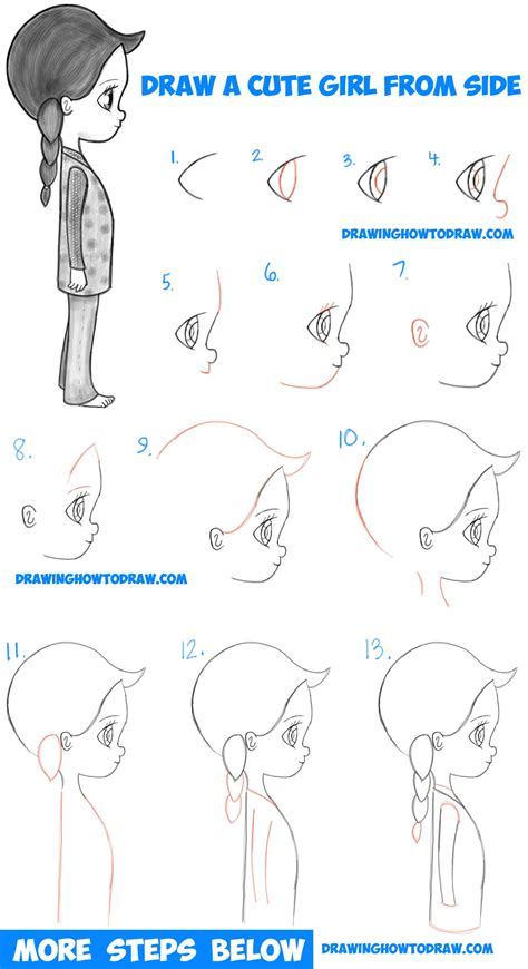 tutorial c beginners how to draw a cute chibi manga anime girl from the