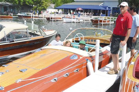 wooden boat owners association wooden boat show turnout pretty decent wawasee