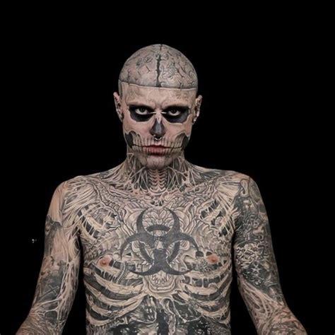 man with full body zombie tattoo zombie boy promiflash de